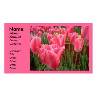 Cartes de visite roses de tulipes carte de visite standard