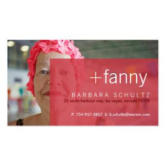 Cartes de visite [roses] du visage de Fanny Cartes De Visite Personnelles