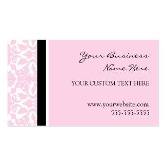 Cartes de visite roses élégants de damassé carte de visite standard