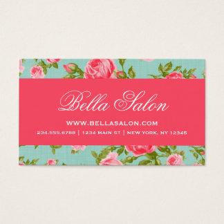 Cartes De Visite Roses floraux vintages élégants chics Girly