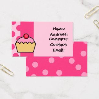 cartes de visite roses mignons de petit gâteau
