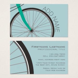 Cartes De Visite Roue de bicyclette de hippie avec le nom fait sur