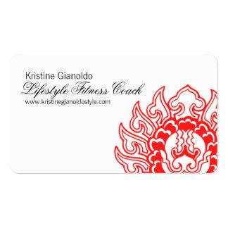 Cartes de visite rouges chics de consultant en carte de visite standard