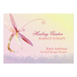 Cartes de visite rouges de thérapeute de massage carte de visite grand format