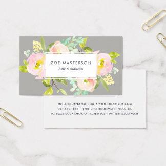 Cartes De Visite Rougissent floraux modernes de la fleur |