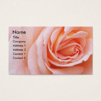 Cartes De Visite Rougissent le rose de rose floral