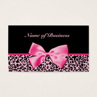 Cartes De Visite Ruban rose et noir à la mode de roses indien de