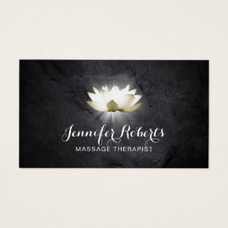 Cartes De Visite Salon curatif élégant de Lotus de thérapie de