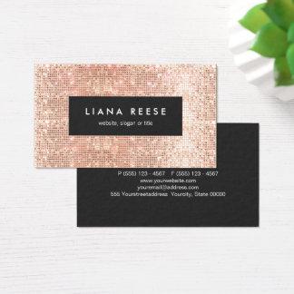 Cartes De Visite Salon de beauté de cuivre de paillettes d'or de