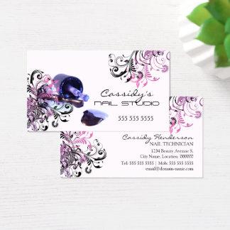 Cartes De Visite Salon de beauté de technicien de clou