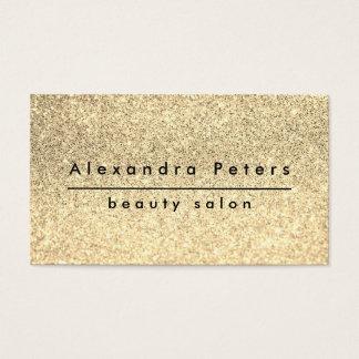Cartes De Visite salon de beauté élégant de parties scintillantes