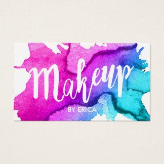 Cartes De Visite Salon de beauté moderne d'aquarelle de maquilleur