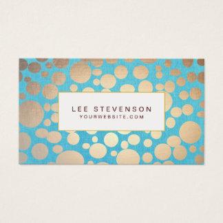 Cartes De Visite Salon de beauté moderne de motif de turquoise et