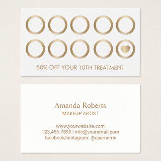 Cartes De Visite Salon de maquilleur d'art de clou de mèches de la