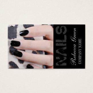 Cartes De Visite salon élégant chic girly d'ongle d'ongles de