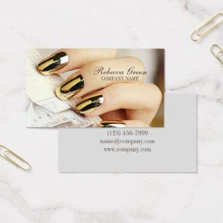 Cartes De Visite salon élégant moderne d'ongle d'ongles de manucure