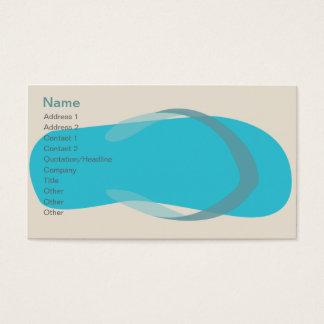 Cartes De Visite Sandale bleue - classique