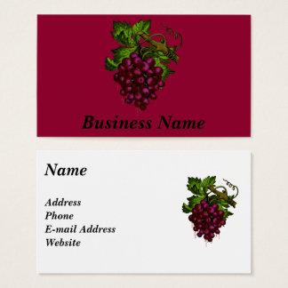 Cartes De Visite Sang d'égoutture de groupe de raisin