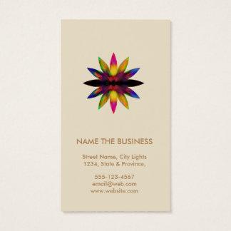 Cartes De Visite Santé curative de yoga de logo de fleur de Lotus