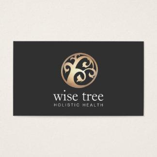 Cartes De Visite Santé d'arbre d'or et santé holistiques et