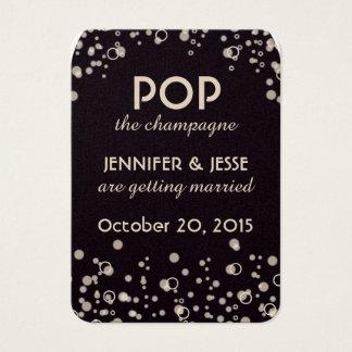 Cartes De Visite Sautez la Champagne - sauvez l'étiquette de date
