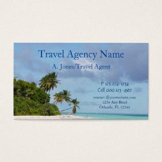 Cartes De Visite Scène de plage d'agence de voyages