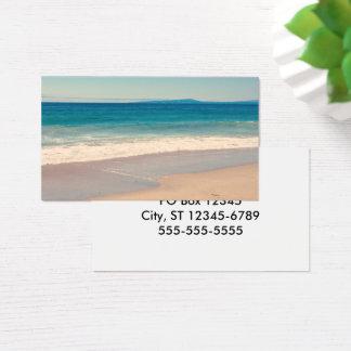 Cartes De Visite Scène de plage d'Aqua