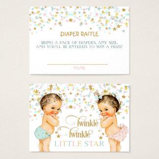 Cartes De Visite Scintillement peu de bébé de cru de tombola de