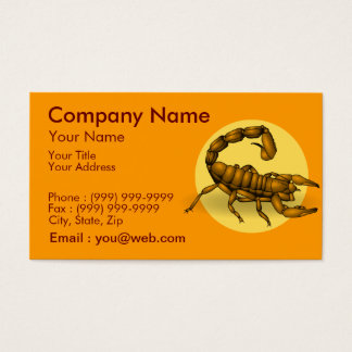 Cartes De Visite Scorpion