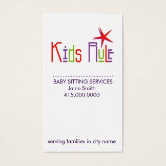 Cartes de visite se reposants de bébé