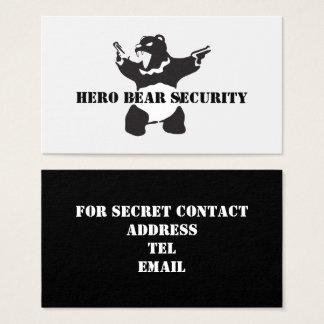 Cartes De Visite Sécurité d'ours de héros