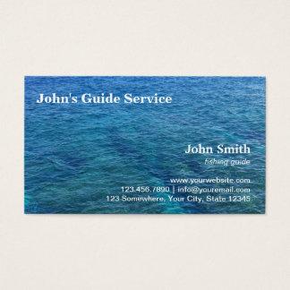 Cartes De Visite Service bleu de visite de guide de pêche d'océan