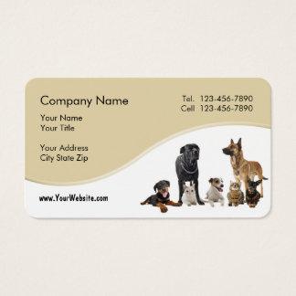 Cartes De Visite Service d'animal familier