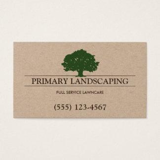 Cartes De Visite Service d'arbre et de pelouse aménageant le