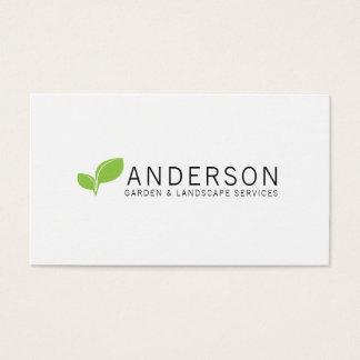 Cartes De Visite Service de aménagement de jardin minimaliste
