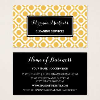 Cartes De Visite Service jaune et noir géométrique moderne de