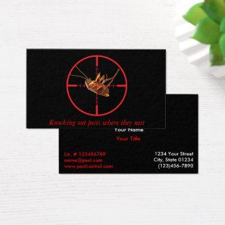 Cartes De Visite Service mort noir 2 de parasite de gardon dégrossi