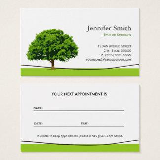 Cartes De Visite Service sage de soin de chêne - rendez-vous