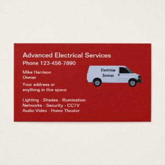 Cartes De Visite Services anticipés d'électricien