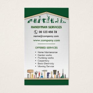 Cartes De Visite Services de bricoleur, entretien à la maison