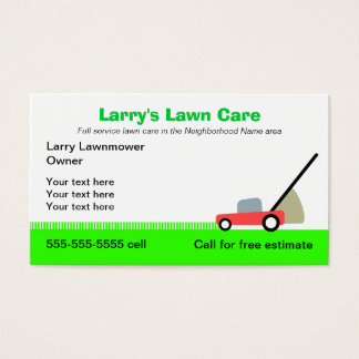 Cartes De Visite Services de soin de pelouse