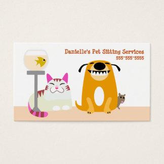 Cartes De Visite Services se reposants d'animal familier