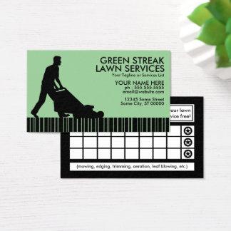 Cartes De Visite services verts de pelouse de filet