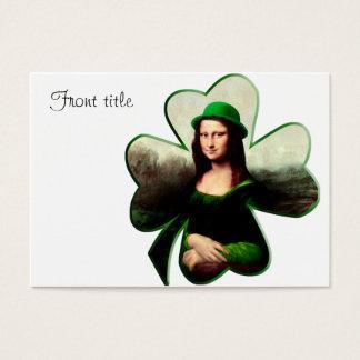 Cartes De Visite Shamrock de jour de Mona Lisa St Patrick chanceux