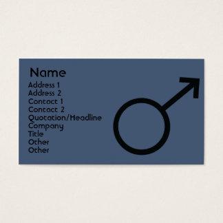 Cartes De Visite Signe masculin - affaires