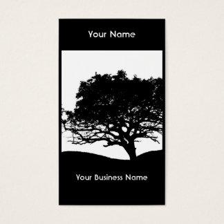 Cartes De Visite Silhouette d'arbre