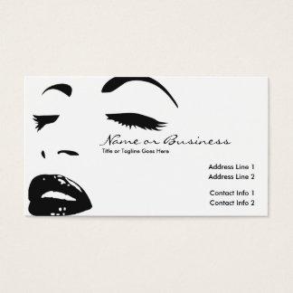 Cartes De Visite silhouette de beauté