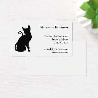 Cartes De Visite Silhouette de chat