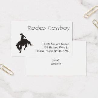 Cartes De Visite Silhouette de cowboy de rodéo