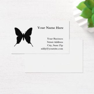 Cartes De Visite Silhouette noire de papillon